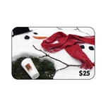 BIGGBY Card $25 Snowman Melting