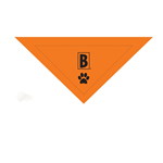 Large Orange Dog Bandana