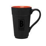 Black & Orange Ceramic Stride 16oz - Consumer