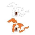 Great Lakes Decal - Orange or White