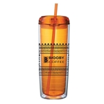 Orange Swirl Double Wall Tumbler - 24oz