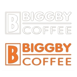 BIGGBY Coffee Decal - Orange or White